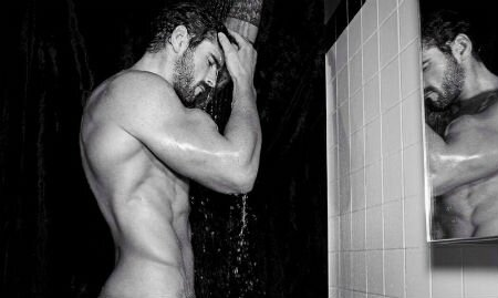 Stuart Reardon ... mannequin et sportif - black and white !