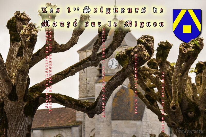 les premiers seigneurs de mauzé sur le mignon