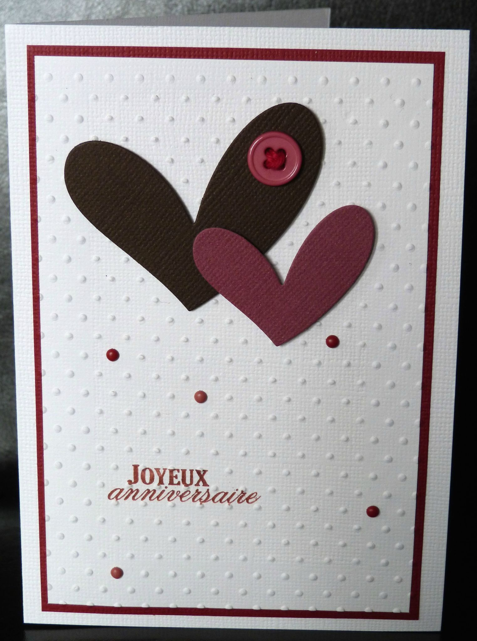 08. blanc, chocolat, violine et rouge - 2 coeurs