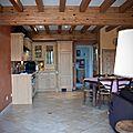 Gite le Paradis*** Pont en Royans Vercors - Gite 319101 - Ocre - Cuisine Salon - 55M2