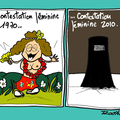 Burqa, interdiction générale et bel effet gore