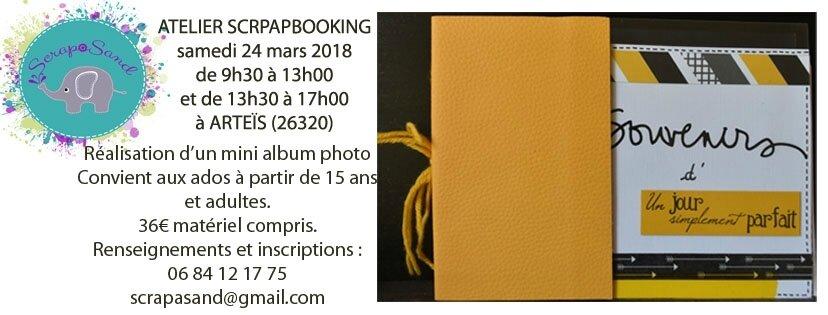 Atelier samedi 24 mars