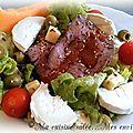 Tranches de bœuf froid en salade