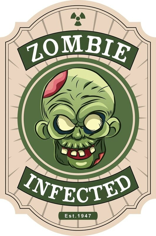 label halloween virus zombie infected