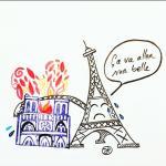 notre dame de paris dessin d'aurélie pedrajas