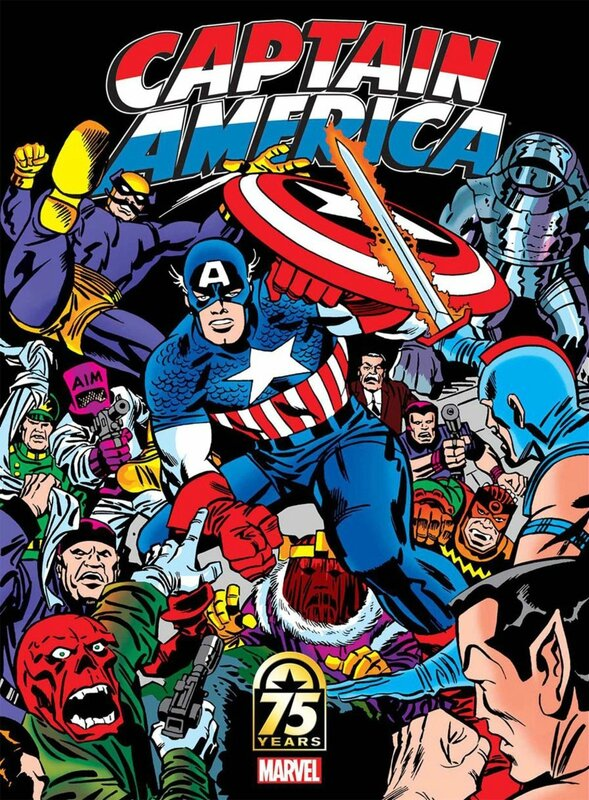 captain america 75th anniversary magazine kirby cover