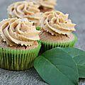 Cupcakes cannelle, pomme, caramel au beurre salé : yumi !