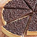 Tarte au chocolat gianduja de cyril lignac
