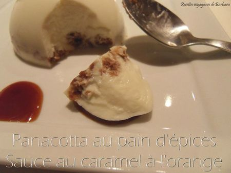 panacotta au pain d'épicessauce au caramel à l'orange1