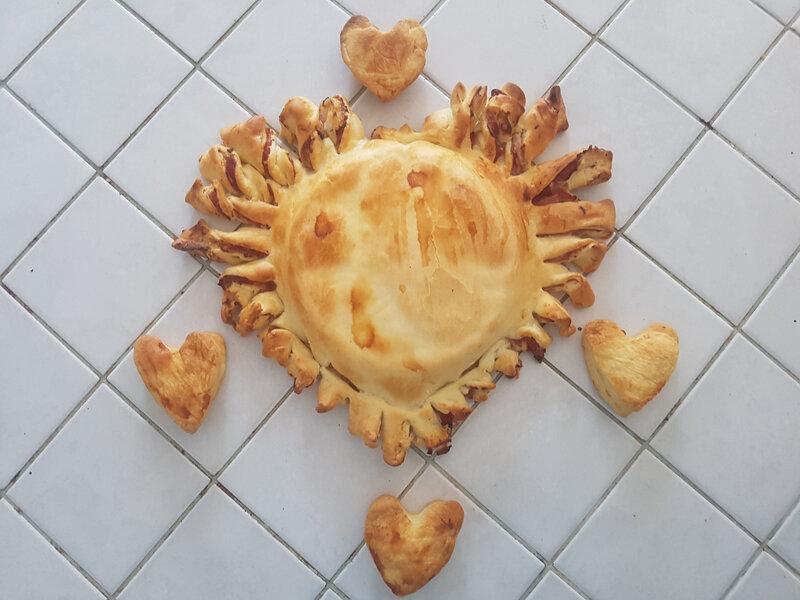 feuilleté coeur Brie Boursin jambon 14
