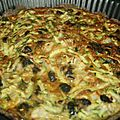 Tarte courgettes-olives