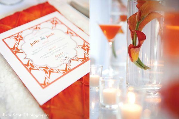 white-orange-modern-retro-wedding-menu