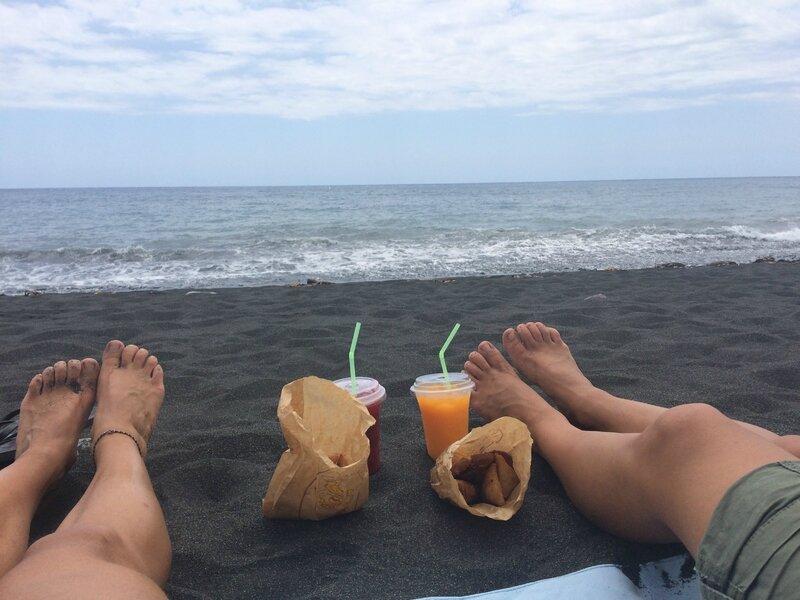 pique nique sur la plage de Saint Paul
