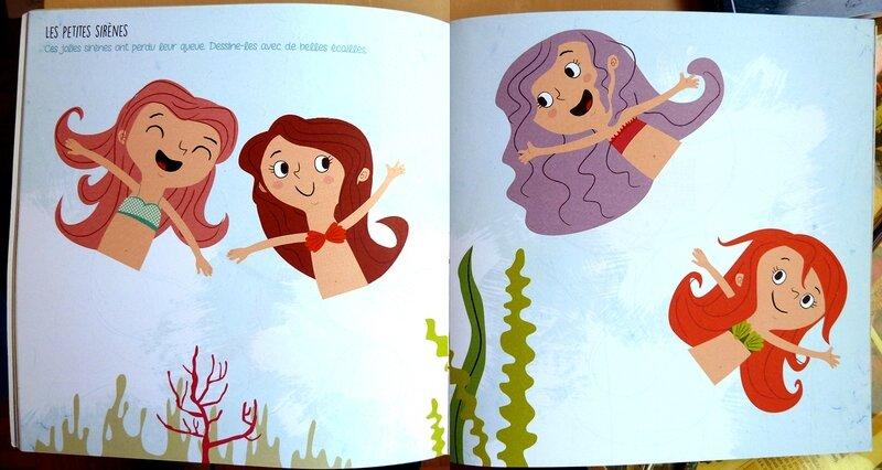 imagine dessine et colorie la mer et ses pirates - les petites sirènes 01