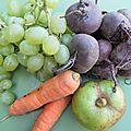Betterave, raisin, pomme, carottes et citron: le cocktail arcimboldo