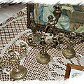Bougeoir & petits chandeliers