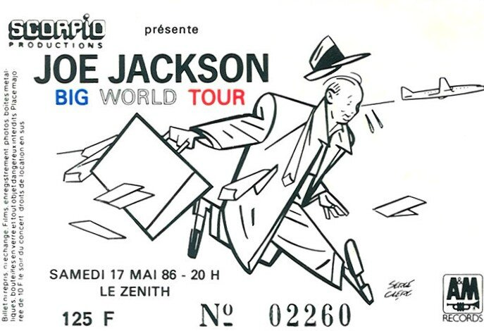 1986 05 Joe Jackson Zenith Billet