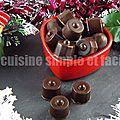 Chocolats fourrés à la pralinoise