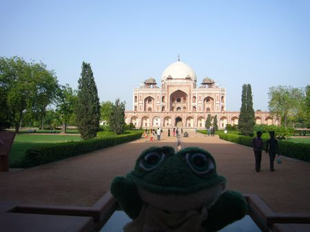 Photo de brOOky devant le Tombeau d'Humayun à New Delhi en Inde