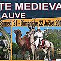 Les médiévales de sauve (gard, prox. nîmes/uzès) 21 et 22 juillet