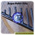Bague violet et blanc Kitty (Be12)