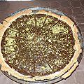 Tarte chocolat noir pistache