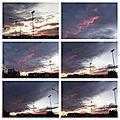 Les mois d'hiver - un nouveau coucher de soleil, ce soir vers les 17 heures, au-dessus de la ville fédérale