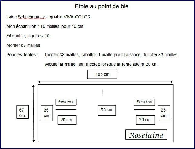 Roselaine étole point de riz 2