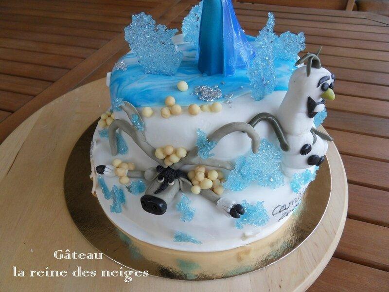 gâteau la reine des neiges1