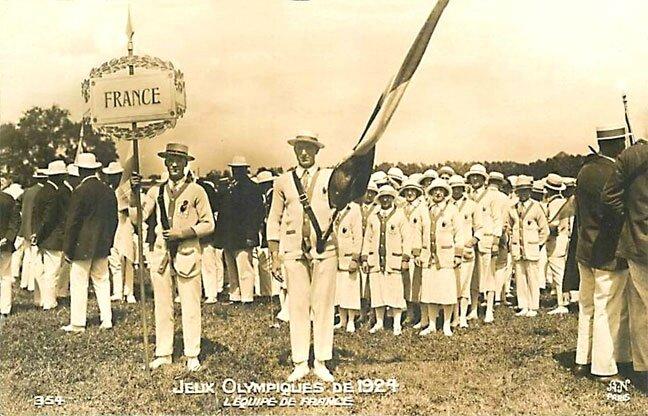 CPA Paris 1924 Equipe de France