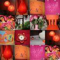 Orange et fushia