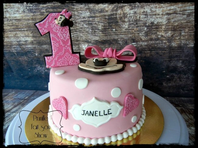 gateau 1 an minnie prunillefee