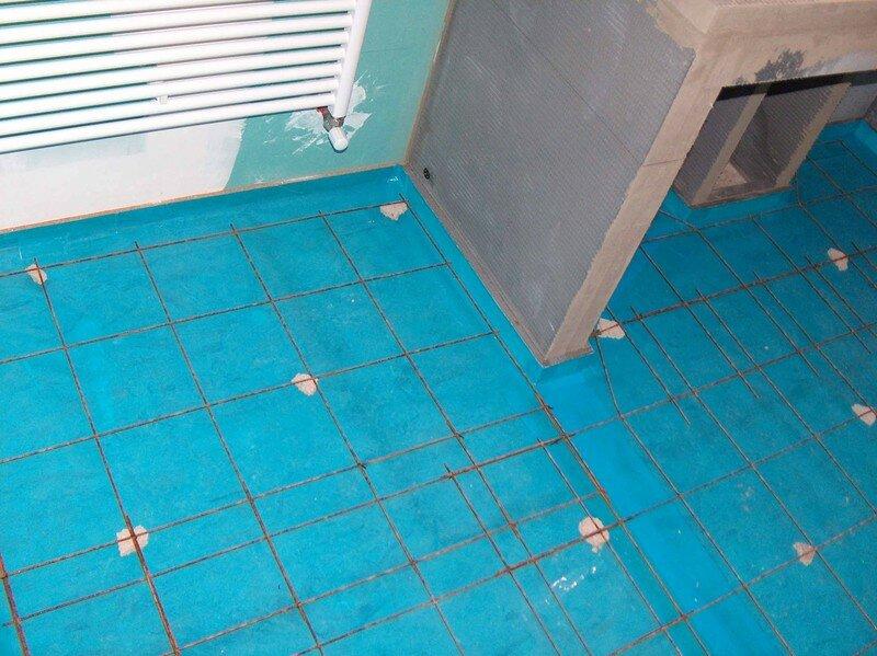 la dalle de la grande salle de bain fait par nous mission renovation. Black Bedroom Furniture Sets. Home Design Ideas