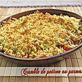 Crumble de potiron au parmesan & épices douces