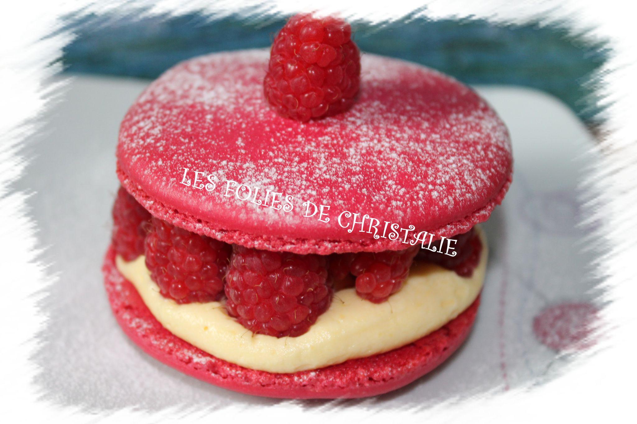 Macaron framboises 9
