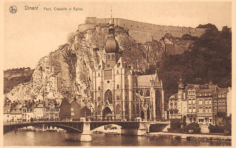 Dinant CPA Pont Forteresse Cathédrale