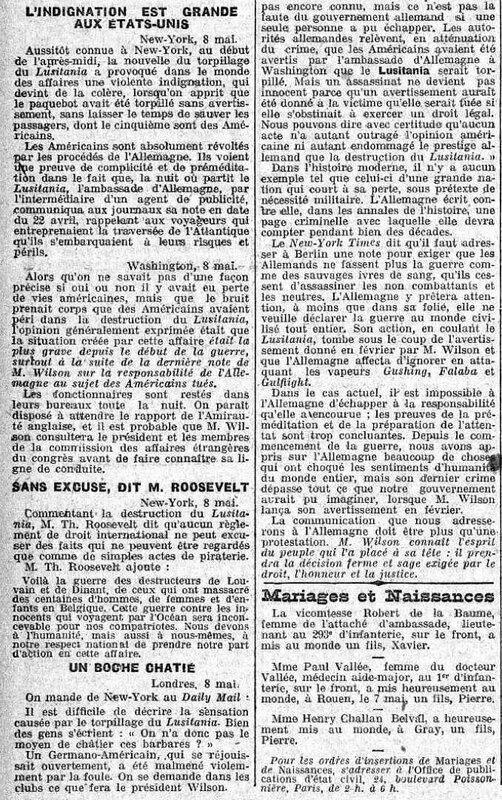 Echo de Paris Lusitania4