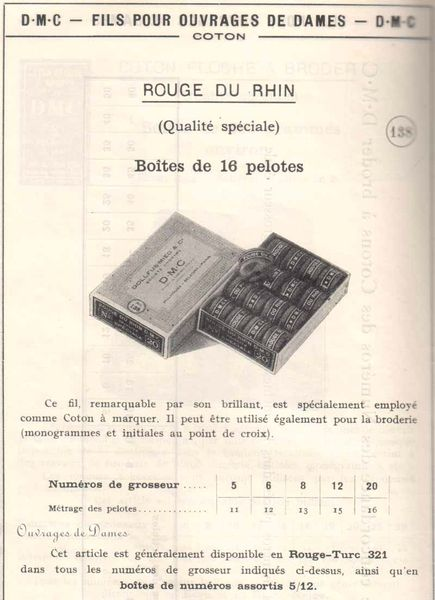 Catalogue DMC 1954