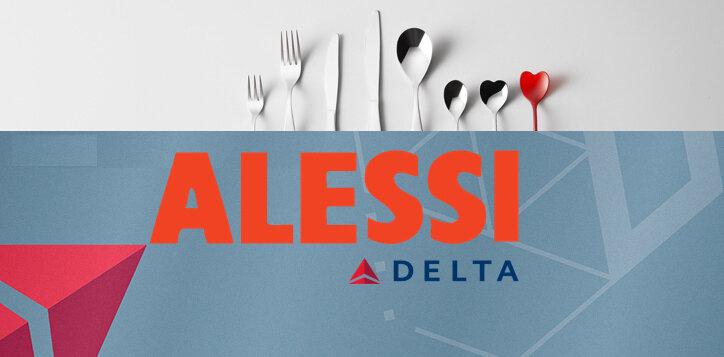 Nouvelle vaisselle pour Delta Airlines par ALESSI