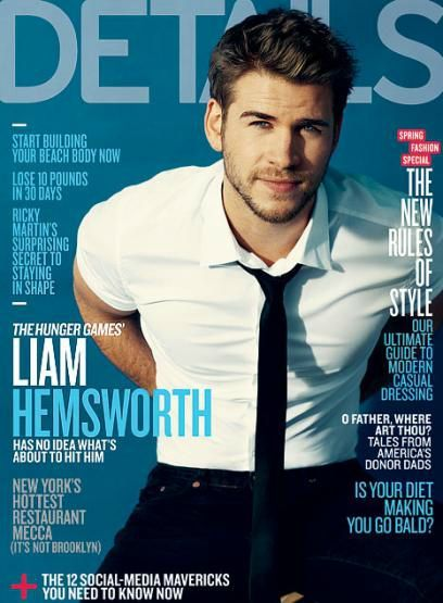 Liam Hemsworth couverture Detail