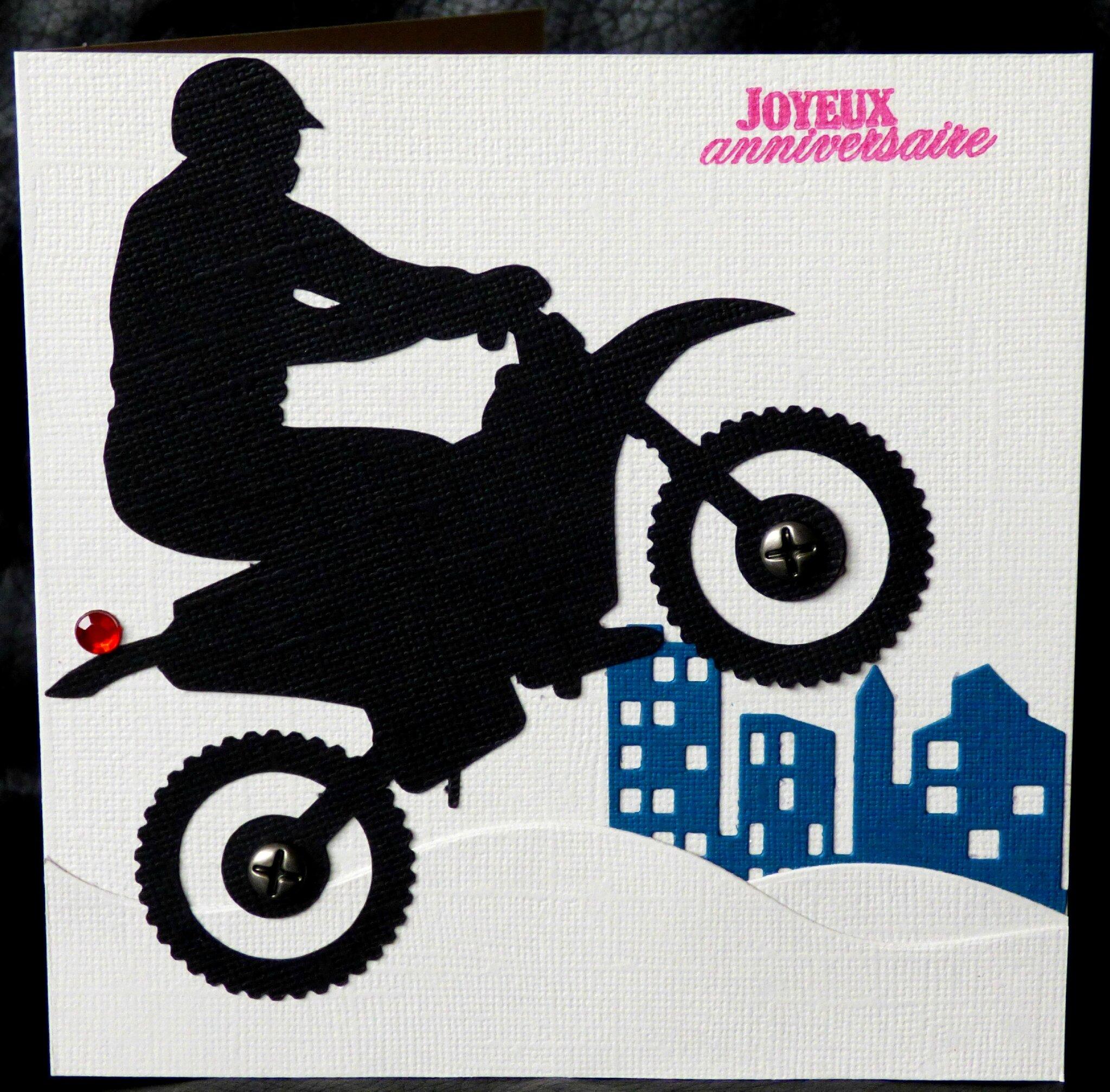 Carte D Anniversaire Masculine Avec Moto Cross Ideale Pour Les Ados