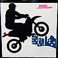 Carte d'anniversaire masculine avec moto cross, idéale pour les ados