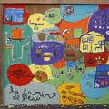 La fresque au citypark de clamart