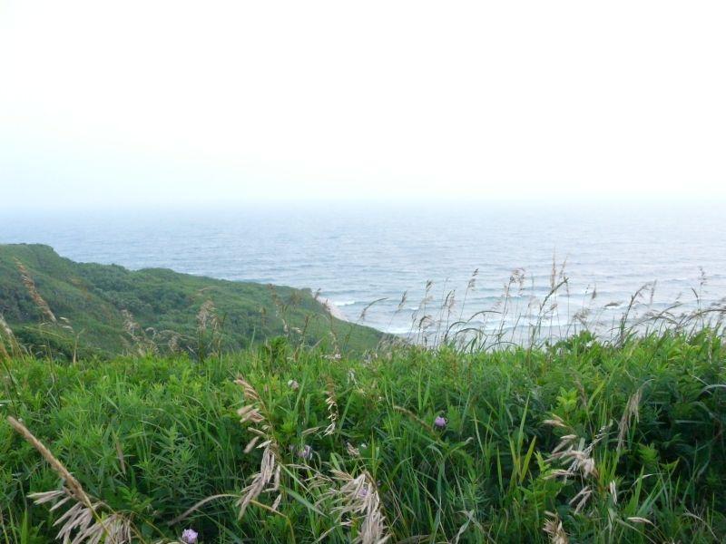 Au bout de l'ile, des falaises et l'ocean