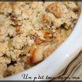 P'tit crumble de poulet aux champignons, noix et noisettes