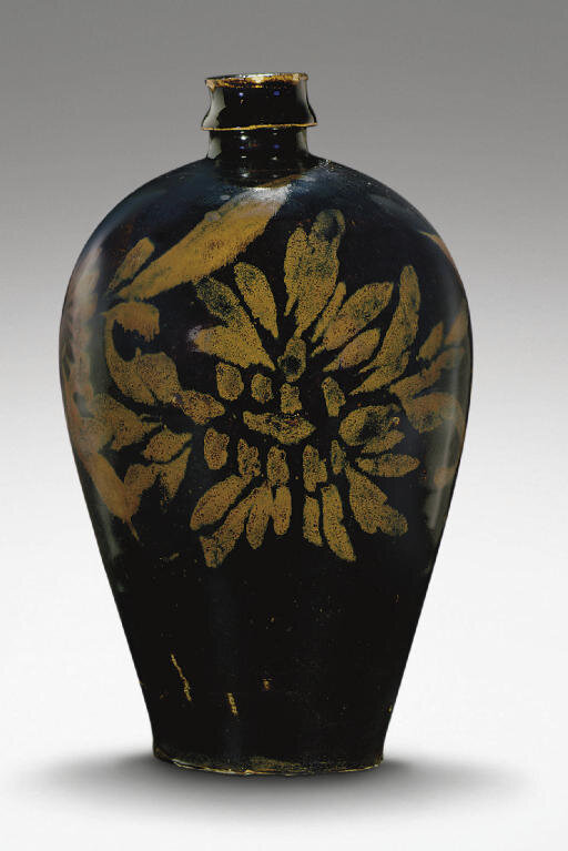 A russet-decorated ovoid vase, meiping, Jin-Yuan dynasty, 12th-13th century