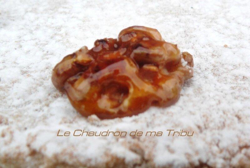 Dacquoise aux noix-crème mousseline pralinée 006