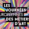 Journées européennes des métiers d'art 2016 à l'atelier