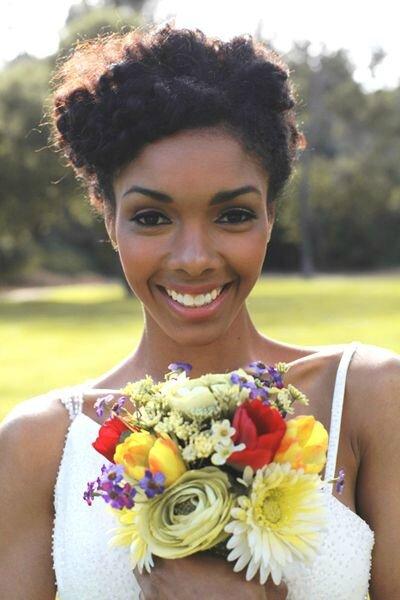 mariée cheveux afro