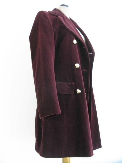 Manteau Bordeaux 2